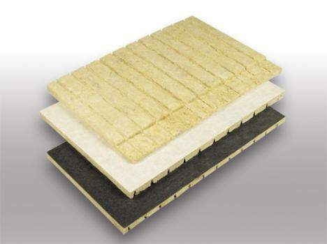 Rock Mineral Wool - Ceramic Chimneys - CHM C V-GROOVED BOARD