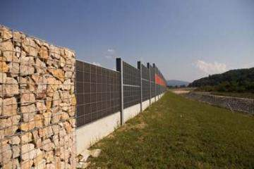 Noise barriers along the Doboj-Prnjavor motorway